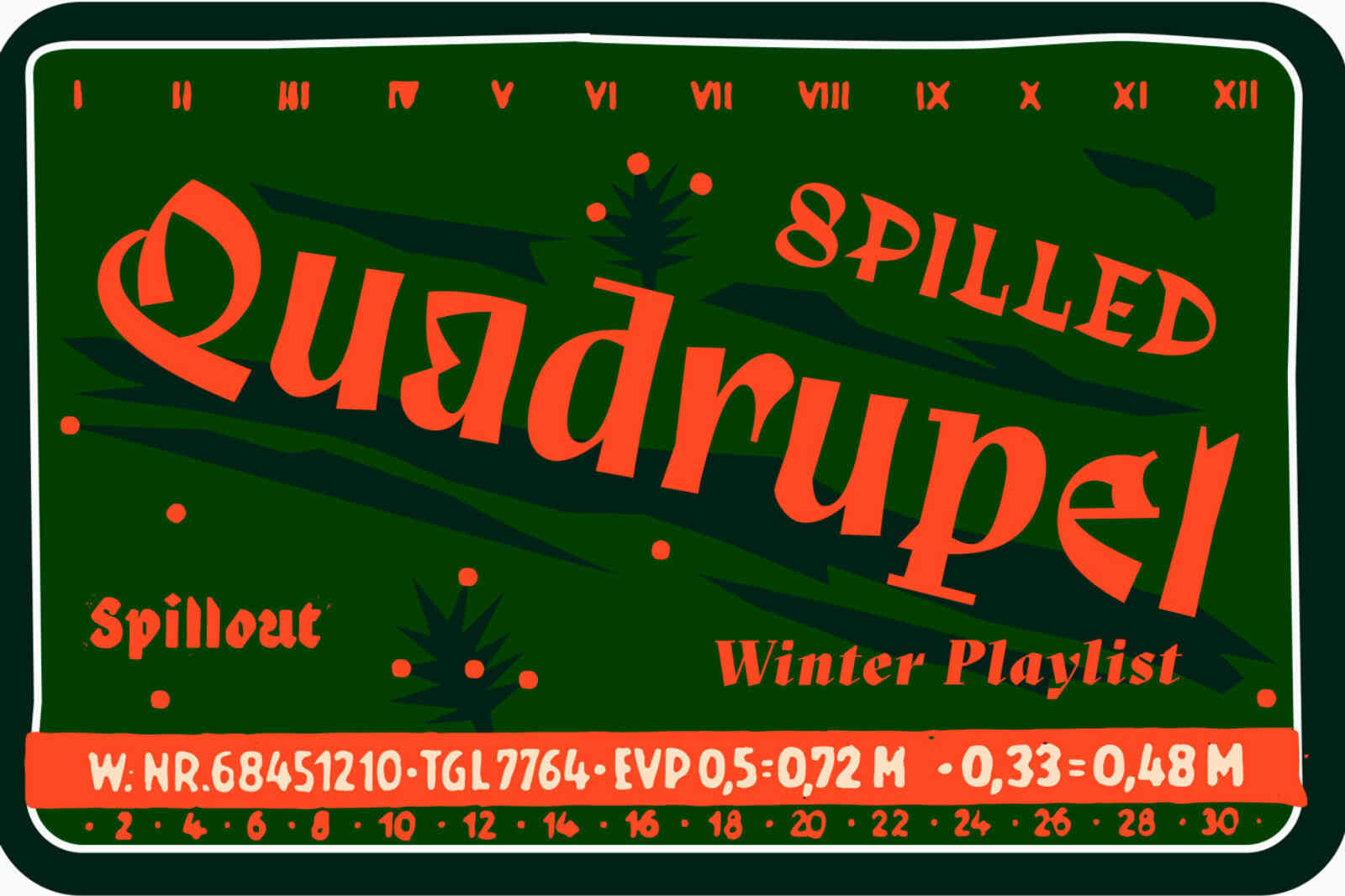 Playlist Winter Spilled Quadrupel