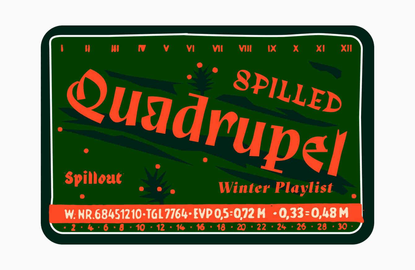 Playlist Winter Spilled Quadrupel 1800