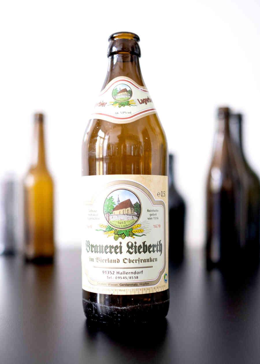 Brauerei Lieberth – Lagerbier, Flasche.