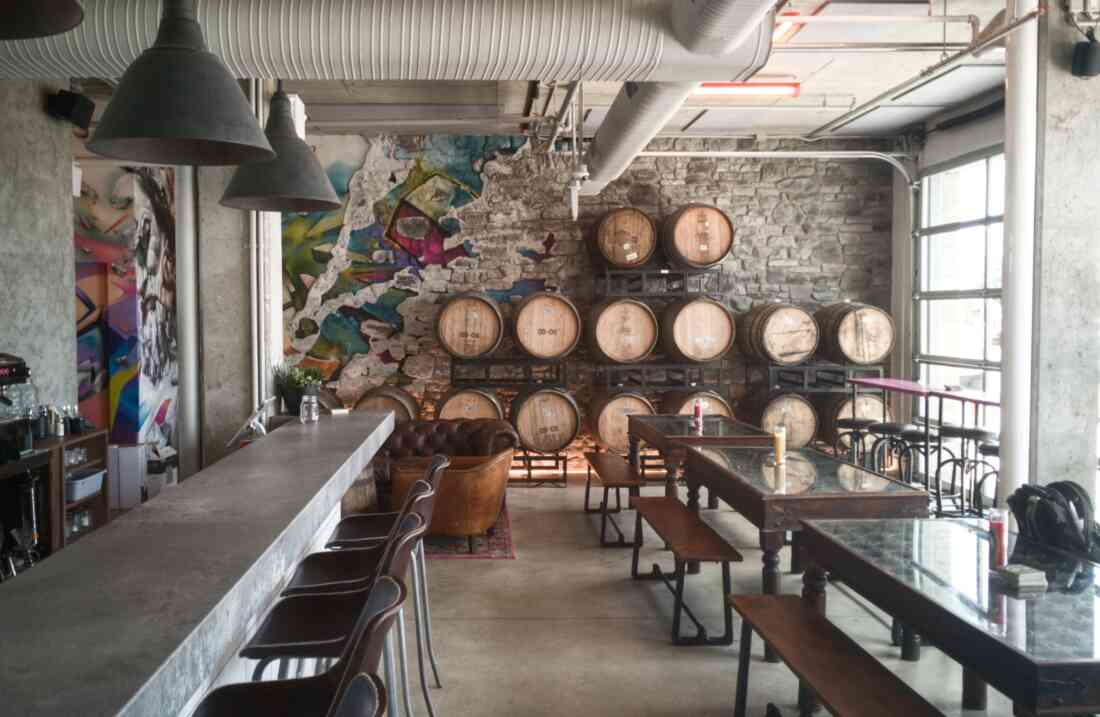 House of Funk Brewing in Vancouver, Interieur.