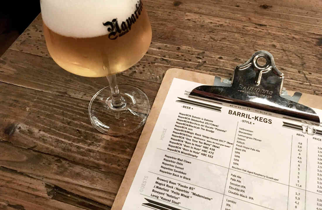 Barcelona Napar Bier Bar Kraftank