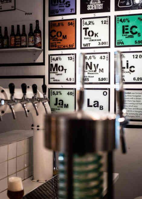 Laber (Mad Scientist), Berlin – Bar und Taplist.